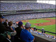 Opening Day at Kaufman Stadium, 2004