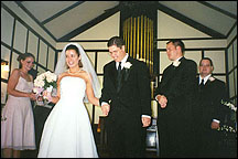 Stacie, Julianna, Tim, Bill, John - Longview Chapel, September 7, 2002